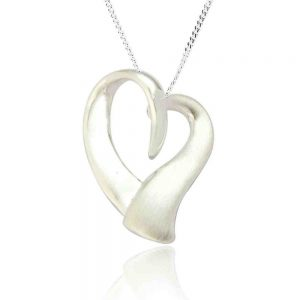 Sterling Silver Organic Heart Shaped Pendant (SP170)