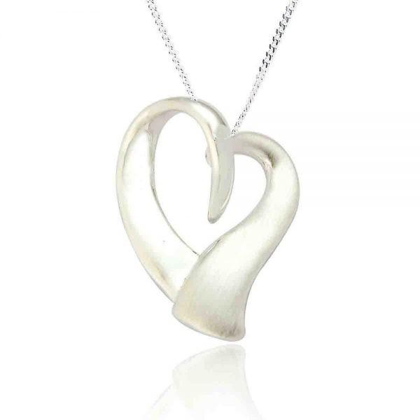 Sterling Silver Organic Heart Shaped Pendant (SP170) | Silver Jewellery