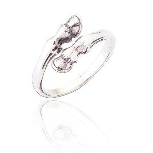 Sterling Silver Adjustable Ring - Horse Hooves (SP271)