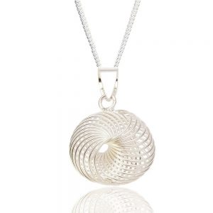 Spirograph Design Sterling Silver Pendant (SP229) | Sterling Silver Jewellery | Craft Works gallery of Corbridge