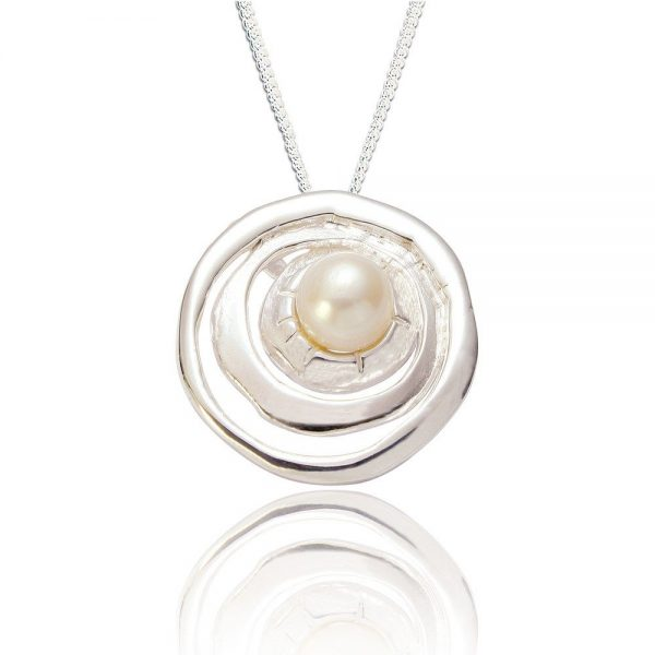 Sterling Silver Pendant with Pearl (SP227)