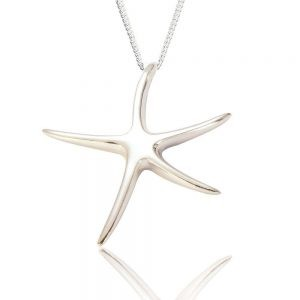 Starfish Sterling Silver Pendant (SP225) | Silver Jewellery