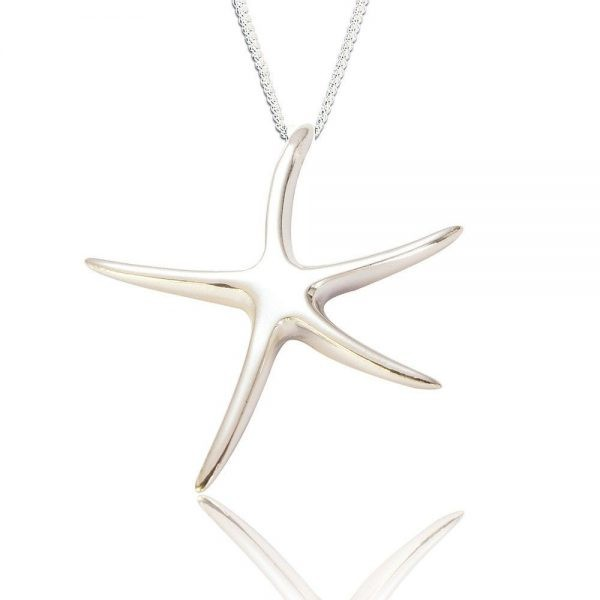 Starfish Sterling Silver Pendant (SP225)