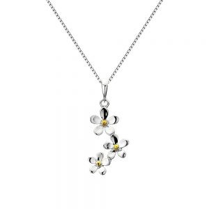 Triple Daisy Sterling Silver Pendant (SM09)