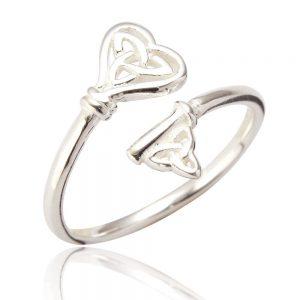 Sterling Silver Adjustable Ring - Celtic Knot (SP272)