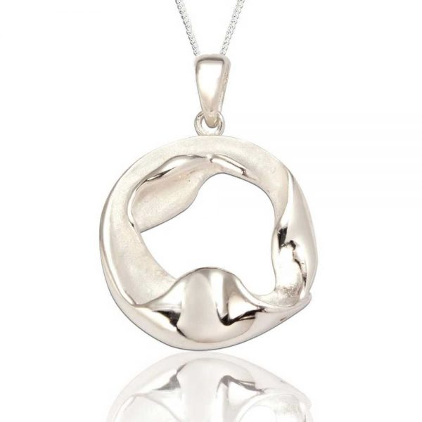 Organic Sterling Silver Circular Pendant (SP278)