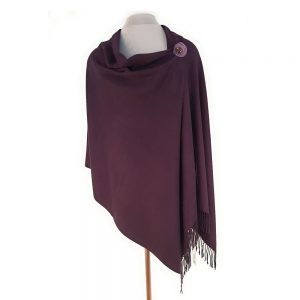 Aubergine Pashmina with Pin | Wrap | Cover Up