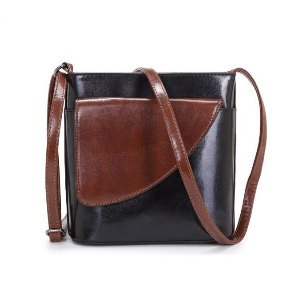 Small Black and Brown Crossbody Bag (LS1009)