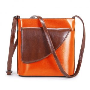 Small Orange and Brown Crossbody Bag (LS1016)