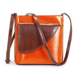 Small Orange and Brown Crossbody Bag (LS1016)