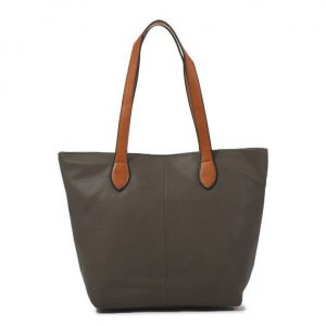 Small Grey Shopper Bag (LS808) | Handbags