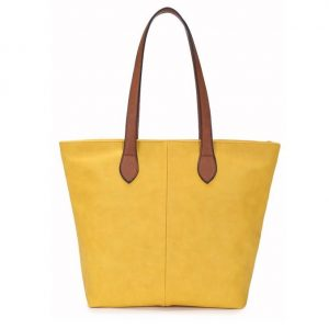 Small Yellow Shopper Bag (LS737) | Handbags