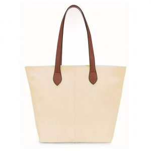 Small Beige Shopper Bag (LS622) | Handbags