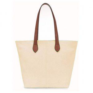 Small Beige Shopper Bag (LS622)