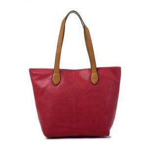 Small Red Shopper Bag (LS612) | Handbags