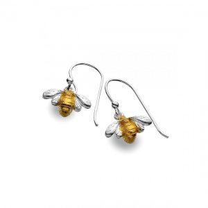 Sterling Silver Bee Earrings (SM20)