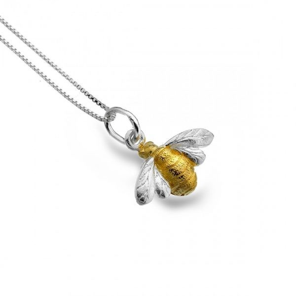 Sterling Silver Bee Pendant (SM19)