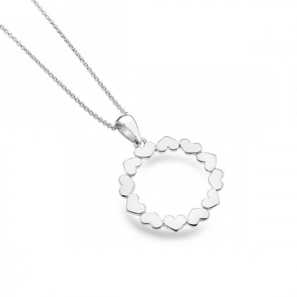 Sterling Silver Circle Heart Pendant (SM04)