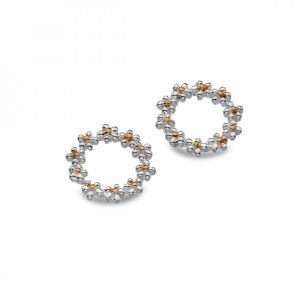 Sterling Silver Daisy Stud Earrings (SM03)