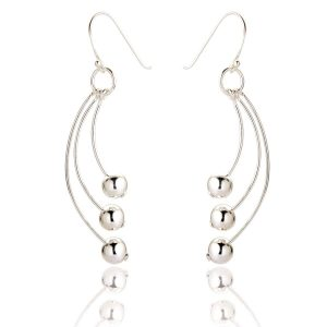 Sterling Silver Drop Earrings (SP275)