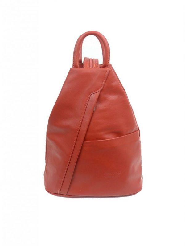Italian Leather Burnt Orange Backpack - Large | Italian Leather Bags