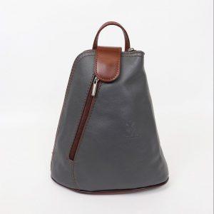 Italian Leather Dark Grey Backpack - Small (BAG7) | Italian Leather Bags
