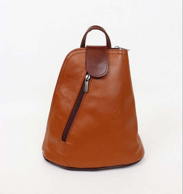 Italian Leather Tan/Brown Backpack - Small (BAG6)