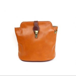 Italian Leather Tan Crossbody Bag (BAG14)