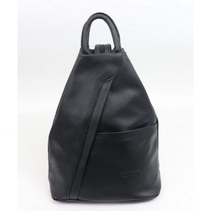 Italian Leather Black Backpack - Large (BAG4)