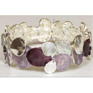 Purple & Grey Multi Tone Layered Bracelet (M61)