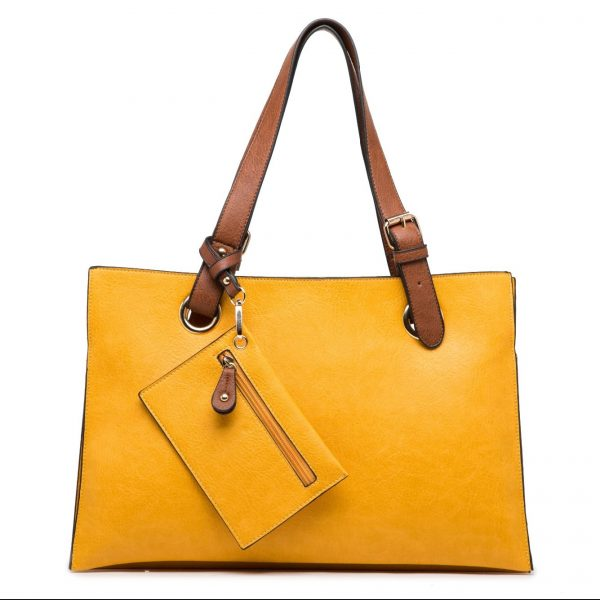 Yellow Shoulder Bag with Purse (LS736)