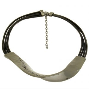 Gunmetal Black Twist Necklace (M56)