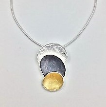 3 Tone Pendant (G115)   Silver Plated Jewellery