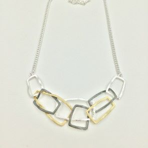 Pretty Multi Tone Open Necklace (G392)