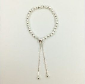 Silver Coloured Friendship Style Bracelet (G218)