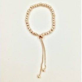 Rose Gold Coloured Friendship Style Bracelet (G234) | Jewellery