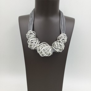 Coiled Silver Necklace with Magnetic Fastening (G189)