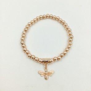 Rose Gold Plated Bee Bracelet (G551) | Jewellery