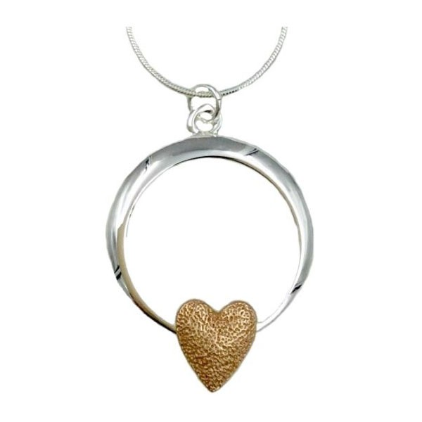 Open Circle Pendant with Heart (G480)