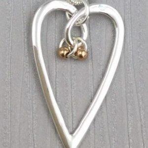 Elegant Heart Shaped Pendant (G483)
