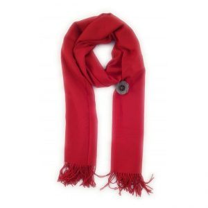 Red Pashmina with Pin