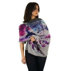 Pashmina - Indigo Watercolour | Cover Up | Wrap | Luxury Scarves