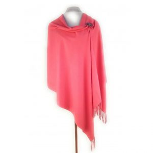 Coral Pashmina with Pin | Coral Wrap | Cover Up