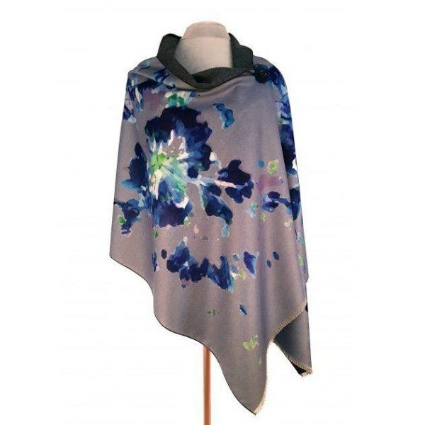 Luxury Pashmina Blue Abstract