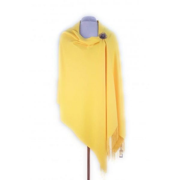 Yellow Pashmina with Pin | Yellow Wrap