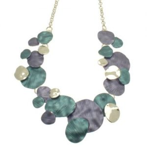 Blue/Purple Layered Disc Necklace (M98)
