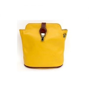 Italian Leather Mustard Crossbody Bag (BAG10) | Italian Leather Bags
