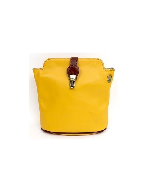 Italian Leather Mustard Crossbody Bag (BAG10)