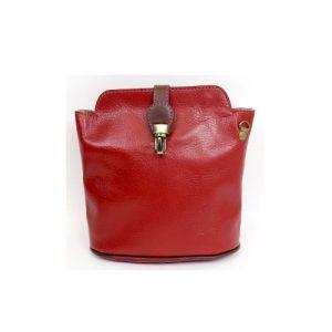 Italian Leather Crossbody Bag - Red (BAG13)