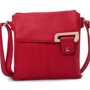 Red Shoulder/Crossbody Bag (LS739) | Italian Leather Bags